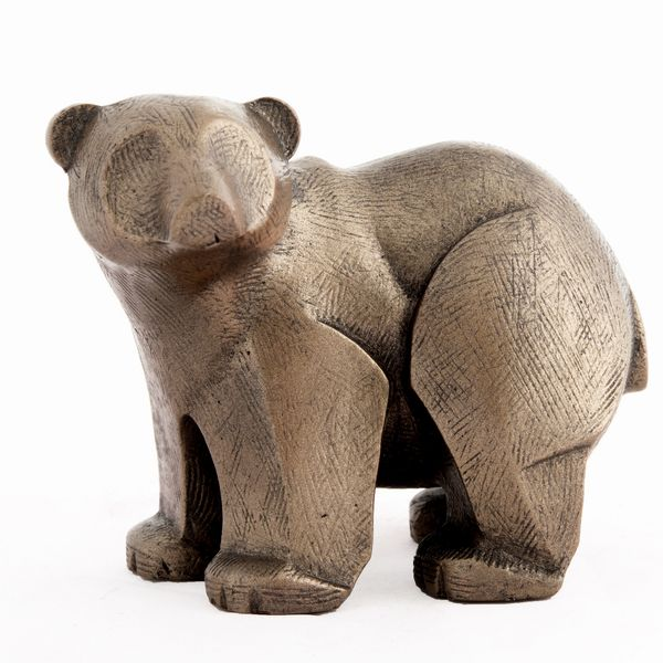 Polar Bear Cub - bronze finish