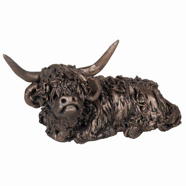 Dougal - Sitting Highland Bull